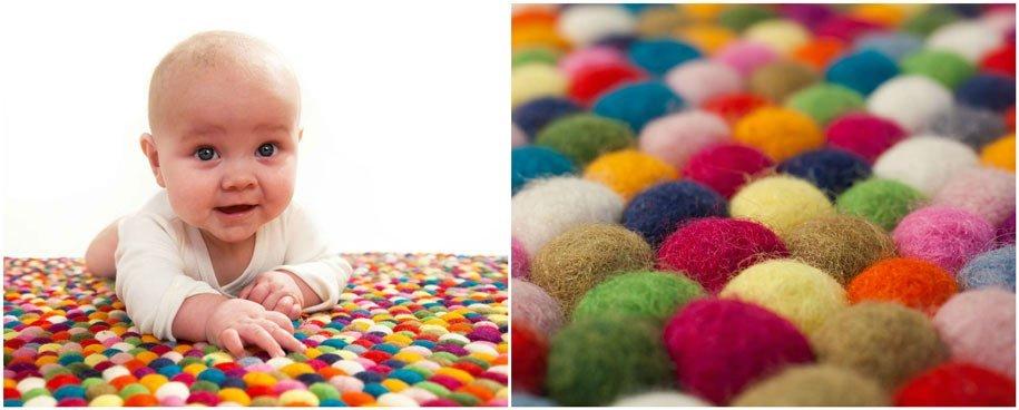 tappeti sukhy palline di feltro bambino
