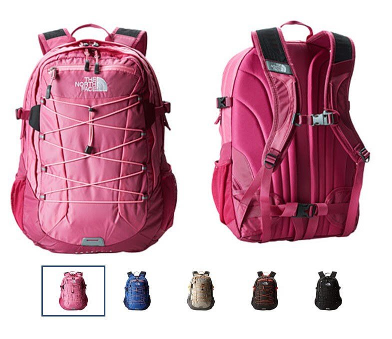 viaggio in auto zaino polaris the north face da donna rosa lilla