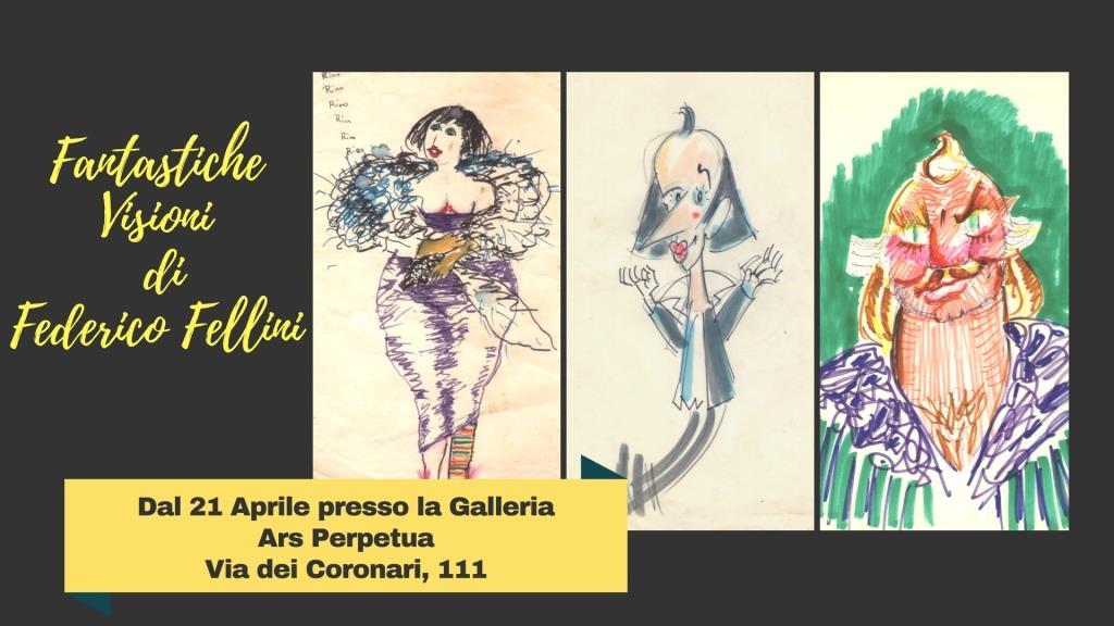 Federico Fellini a Roma con le sue Fantastiche Visioni