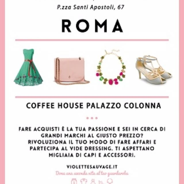 violette sauvage vide dressing roma palazzo colonna 14 e 15 aprile roma