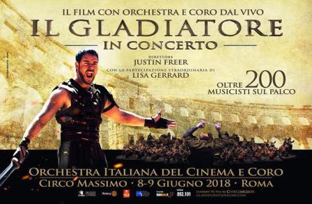 il gladiatore in concerto circo massimo locandina