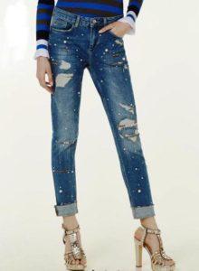 perle tendenza primavera estate jeans con perle liu jo