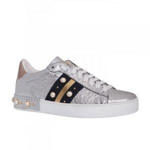 perle tendenza primavera estate sneakers Stokton argento perle