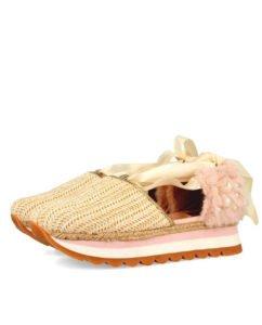 perle tendenza primavera estate sneakers rosa con perle gioseppo