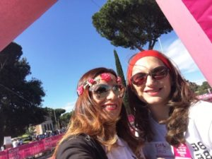 race for the cure roma 2018 circo massimo elenia scarsella e rosella