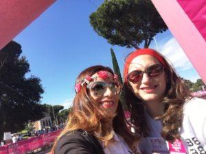 race for the cure roma 2018 circo massimo elenia scarsella e rosella