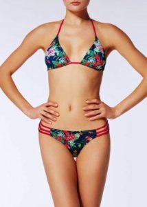 costumi bikini triangolo calzedonia fantasia fiori