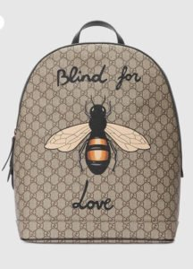zaino zainetto back pack gucci ape blind for love