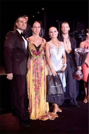 Mirko Saccani, Gaynor Fairweather MBE, Klemen Prasnikar & Alexandra Averkieva gaynor Fairweather cup