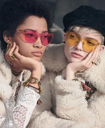 occhiali sunglasses dior diorcolorquake2 rettangolari colorati