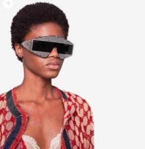 occhiali sunglasses gucci collezione Hollywood Forever cristalli nero
