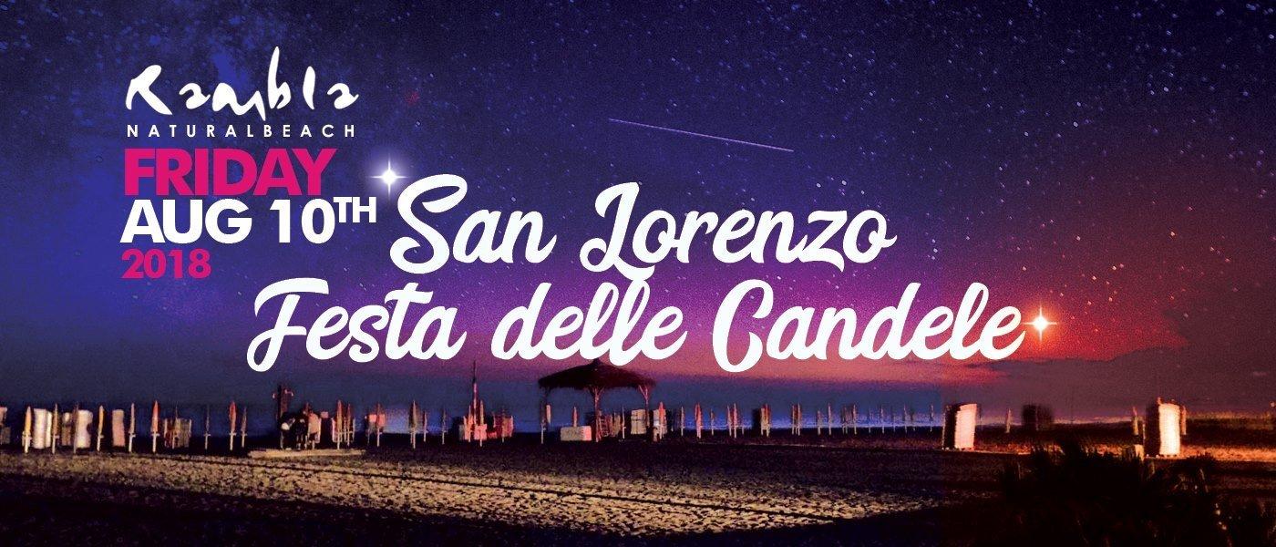rambla beach fiumicino notte delle candele perseidi stelle cadenti