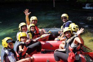 vivere l'aniene subiaco rafting
