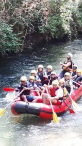 vivere l'aniene subiaco rafting avventura gruppo verticale