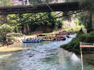 vivere l'aniene subiaco rafting avventura partenza