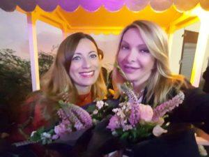 opening party maria Laurenza Elenia Scarselle e Antonietta Di Vizia