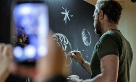 Mauro Sgarbi presenta il suo Live Painting ad Architects Party 2018