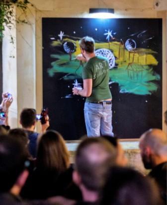 Live painting Mauro Sgarbi