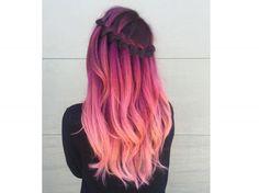 tendenze colore capelli 2018 2019 capelli arcobaleno rainbow hair rosa