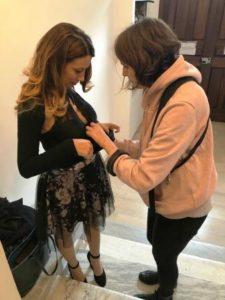 cortesie per gli ospiti elenia scarsella blogandthecity backstage microfono