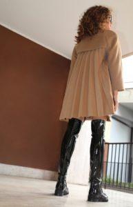 saldi invernali 2019 cappotto sandro ferrone corto plisse