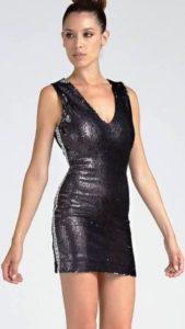 saldi invernali 2019 vestito guess paillettes reversibili 1