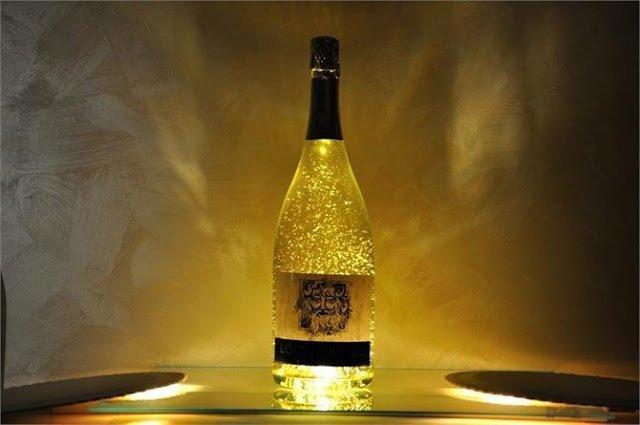 oro mania champagne oro di bacco con pagliuzze oro
