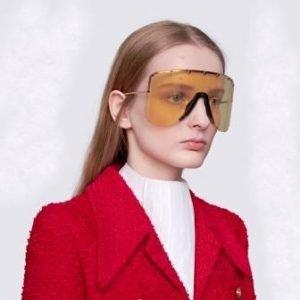 occhiali da sole a mascherina gucci