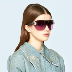 tendenze occhiali da sole a mascherina eyewear mask sunglasses miu miu