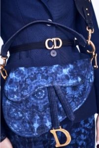 borse a spalla saddle bag dior denim