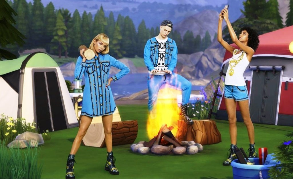 tendenze 2019 jeans moschino x the sims