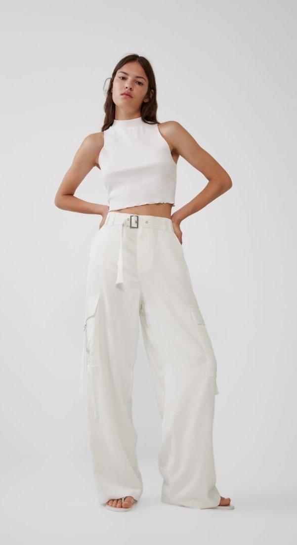 vendita calda online 6f286 357dc Blog and the City - pantaloni bianchi zara -