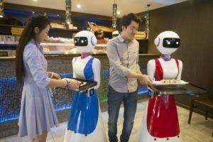 robot camerieri gran caffe rapallo