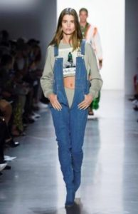 salopette jeans denim jeremy scott sfilate