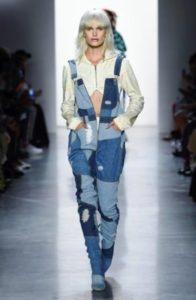 salopette jeans denim jeremy scott sfilate