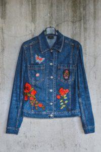 Giacca di jeans personalizzata fiori