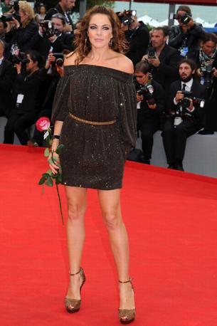 """Red carpet del film """"The master"""" - - 69° Mostra del cinema di Venezia colori moda marrone"""