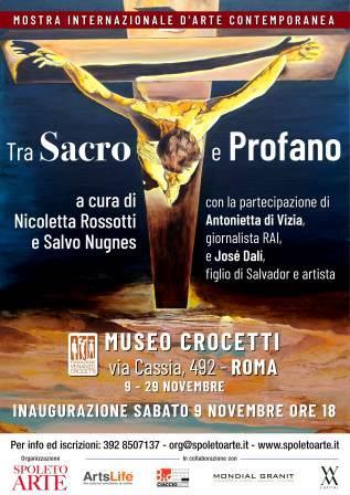 locandina Tra SACRO e PROFANO spoleto arte