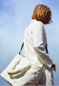 borsa a piumino zara bianca