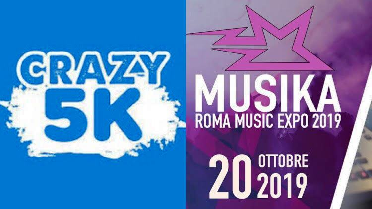 Musika e Crazy5k per il weekend romano