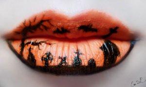 trucco labbra halloween 2019 arancione