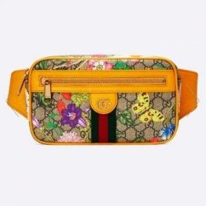 belt bag gucci flowers