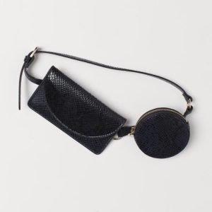 belt bag h&m grande e piccola neRA