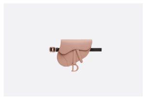 belt bag marsupio dior saddle pelle color fard