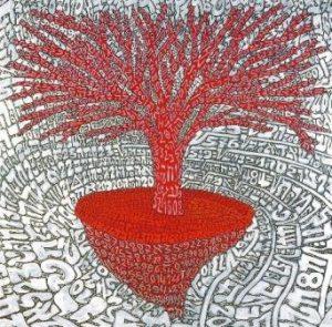 Il Natale dei cento alberi d'autore TOBIA RAVA' - Il quadrato dell'albero della vita - Radici