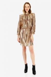 capodanno 2020 imperial fashion abito paillettes oro