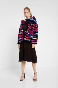 giacca teddy bear multicolor desigual