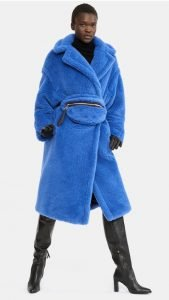 teddy coat maxmara bluette