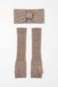 set fascia e manicotti in maglia h&m