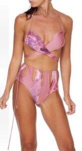 bikini con laccetti rosa incrociato me fui